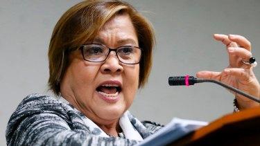 Senator Leila De Lima led an investigation into President Rodrigo Duterte's bloody anti-drug campaign.