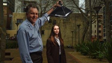 Eureka prize winner Paige Bebee and her Nobel prize winning grandfather Professor Barry Marshall.