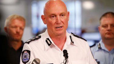 Emergency Management Commissioner Craig Lapsley at the State Control Centre on Sunday.