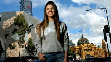 Colombian student Catalina Blandon arrived in Australia three years ago, and now calls it home. She is studying for a business diploma at a private college.