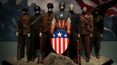 The exhibition also incorporated plenty of Captain America memorabilia.
