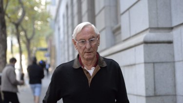 Robert Penny leaves the Supreme Court after being granted bail.
