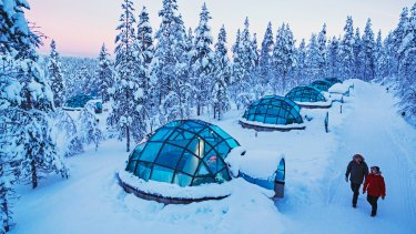 The glass igloos of Kakslauttanen Arctic Resort.
