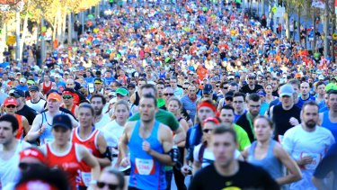 Runners in the Sun Herald City 2 Surf Fun Run. Only 40 per cent of Australians meet exercise recommendations.