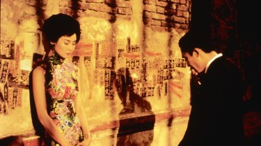Maggie Cheung and Tony Leung star in Wong Kar-Wai's In The Mood for Love.