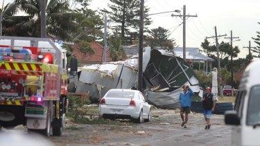 Storm damage at Kurnell.