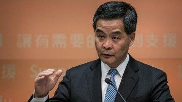 Hong Kong chief executive CY Leung.