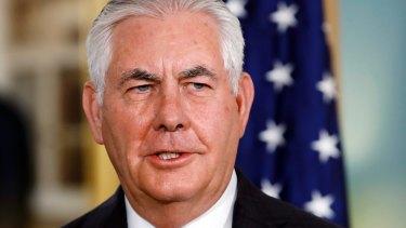 US Secretary of State Rex Tillerson.