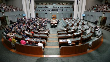 The final vote on the Marriage Amendment Bill at Parliament House on Thursday.