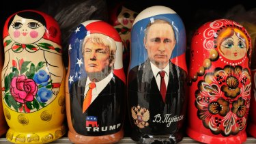 Russian dolls: Donald Trump and  Vladimir Putin.