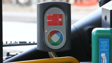 An Opal public transport card reader.