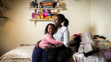 Chebiwot Kipsaina and her Australian-born daughter Malaika Kisia.