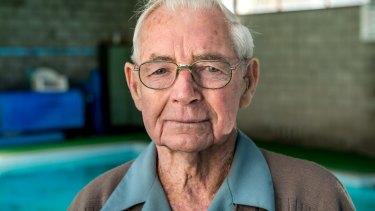 "Sports club member Morris Breel, 92, comes twice a week: ""It's a social place."""