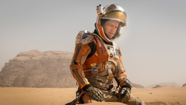 Battle for survival: Matt Damon in <i>The Martian</i>.