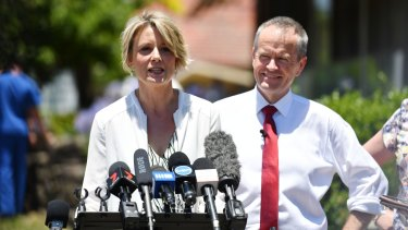 Opposition Leader Bill Shorten on the campaign trail in Bennelong with Labor candidate Kristina Keneally.