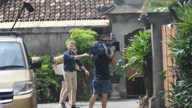 Media outside Schapelle Corby's Kuta villa.