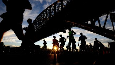 About 12,000 runners took part in the SMH Half Marathon on Sunday.