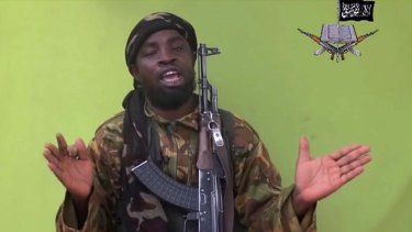 Boko Haram terrorist network video, shows their leader Abubakar Shekau speaking to the camera.