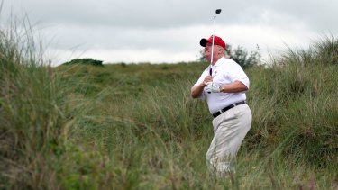 US President-elect Donald Trump is a keen golfer and owner of courses around the world.