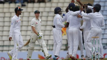 Nervous times: Sri Lanka's series win and England's success against Pakistan has Australia's Test crown in jeopardy.