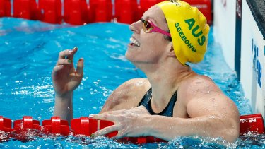 Medal hope: Emily Seebohm won the gold medal in the 200m backstroke at the FINA World Championships in August.