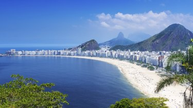 Copacabana beach in Rio de Janeiro. The Marvelous City takes its moniker from a famous 1935 song.
