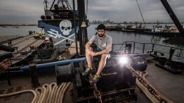 Sid Chakravarty, Captain of the Steve Irwin.