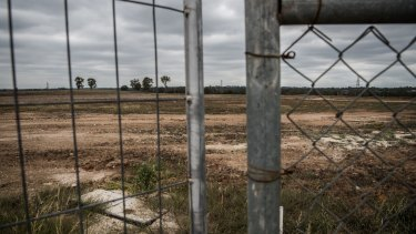 The site of the proposed rail station at Oran Park housing development.