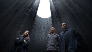 Yhonnie Scarce, Kim Bridgland and Aaron Roberts.