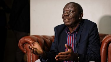 Zimbabwe opposition leader Morgan Tsvangirai speaks to the Associated Press at his home in Harare on Thursday. He called for a negotiated transitional mechanism as well as comprehensive reforms before elections.