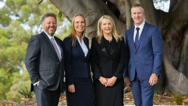 Fortescue's newly unveiled core leadership team. (L-R) Greg Lilleyman, Julie Shuttleworth, Elizabeth Gaines and Ian Wells.