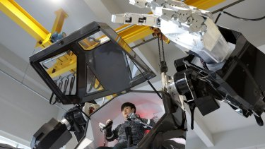 """Inside the cockpit of the """"Method-2"""", whose maker expects it to retail for $11.35 million by the end of next year."""