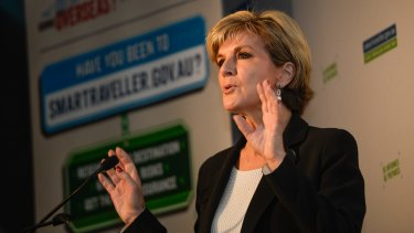 Julie Bishop has warned travellers of serious consequences if their preparation is inadequate or if they make irresponsible choices while overseas.