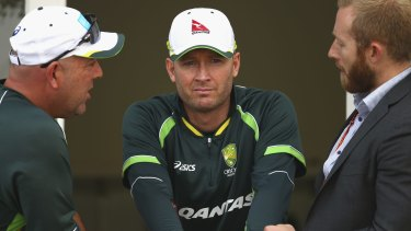 No time for jokes: Michael Clarke.