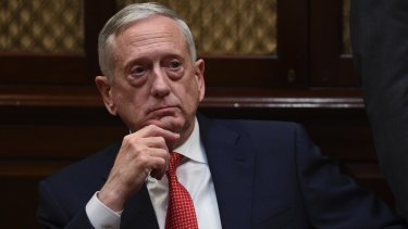 US Defence Secretary James Mattis at the White House after the latest North Korean missile launch.