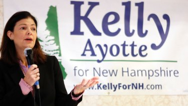 US senator Kelly Ayotte, a Republican in a tight congressional contest, has turned on Donald Trump.