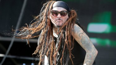 Al Jourgensen on stage at the Melbourne leg of Soundwave in February. His band has still not been paid.