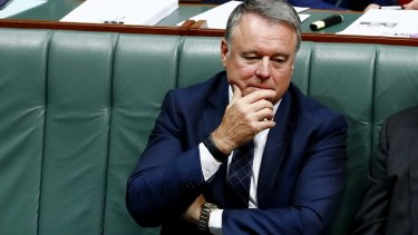 Labor MP Joel Fitzgibbon during Question Time at Parliament House in Canberra.