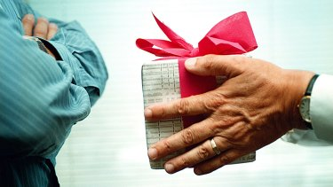 Studies suggest some people are happier giving gifts or treats than they are receiving them.