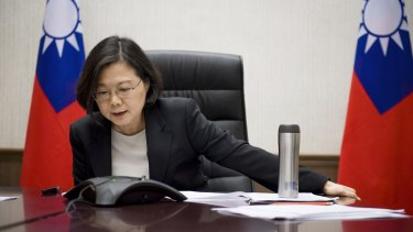 Taiwanese President Tsai Ing-wen speaks with US President-elect Donald Trump.