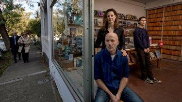 Ben Kemp and Margot McCartney, with son Bede McCartney-Kemp inside the shop.