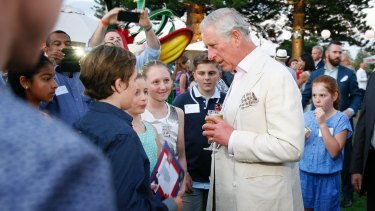 Prince Charles spoke to many children who shared his birthday during the event.