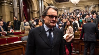 Acting President of Catalonia Artur Mas in parliament in Barcelona on Monday.