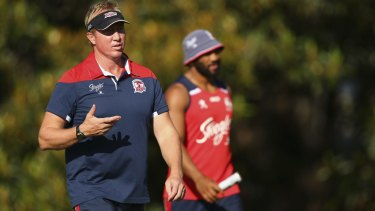 Honouring bravery: Roosters coach Trent Robinson.