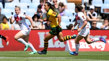 Outstanding: Corban McGregor is one of the most dangerous backline players in the women's game.