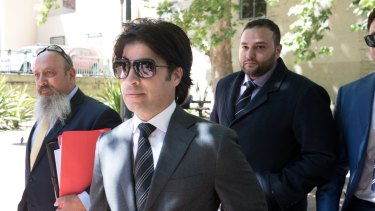 Fadi Ibrahim arrives at Central Local Court on Thursday.