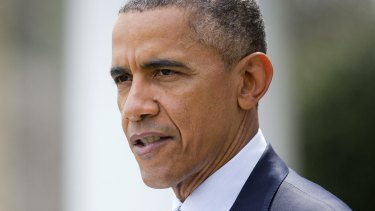 President Barack Obama speaks at the Rose Garden of the White House about the breakthrough in the Iranian nuclear talks.