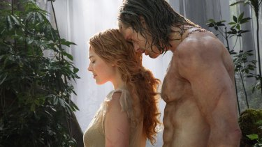 Margot Robbie and Alexander Skarsgard in the film <i>The Legend of Tarzan</i>, which has been panned by critics and is struggling at the box office.