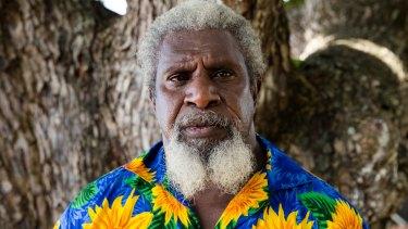 William Bero, who worked closely with Eddie Mabo preparing the documents for his successful land ownership claim in the High Court, on Mer Island in the Torres Strait.