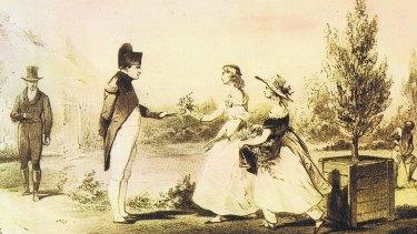 The Balcombe sisters meet Napoleon at The Briars, St Helena.